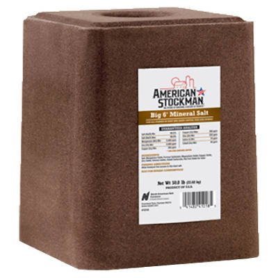 brown block of trace mineral salt from american stockman