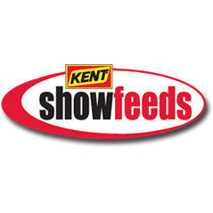"Logo for Kent ShowFeeds. Half ellipse in red around ""showfeeds"" in red and black. Above that is red and yellow Kent logo."