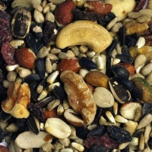 fruit and nut mix, 15 lbs, closeup