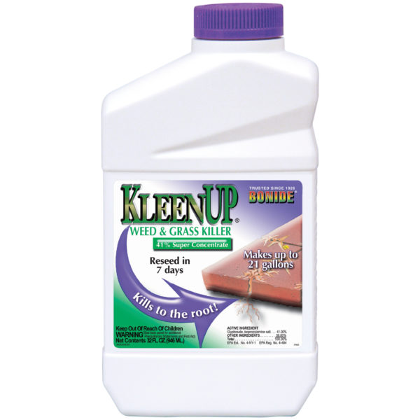 kleenup weed and grass killer in large bottle