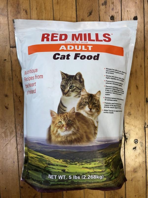 red mills adult cat food, 5 lb bag