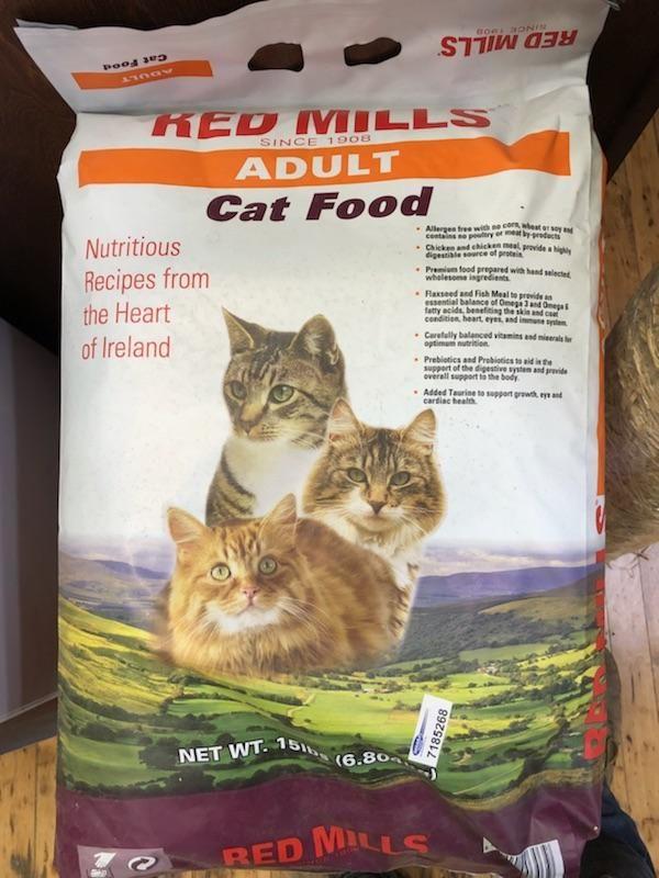red mills adult cat food, 15 lb bag