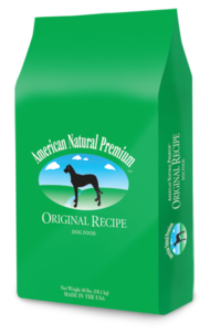 american natural premium, original in green bag with horse graphic.