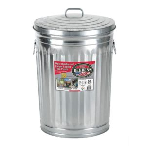 Galvanized Steel Can - 20 gallon