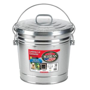 Galvanized Steel Can - 10 gallon